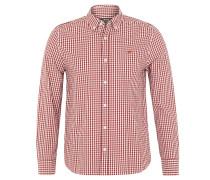 Freizeithemd, Slim Fit, Button-Down-Kragen, Rot
