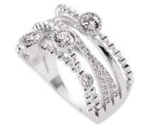 Ring, Sterling  925, -Zirkonia, zus. 1,1 ct