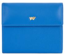 """Geldbörse """"Miami"""", Leder, Logo, Überschlag, Blau"""