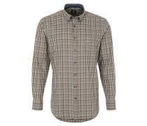 Langarmhemd, Button Down-Kragen, kariert