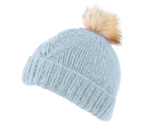 Mütze, Strick, Strass, Webpelz-Besatz