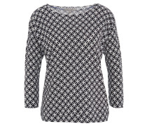 Pullover, 3/4-Arm, überschnittene Schulter, geometrisches Muster