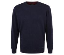 Pullover, Woll-Anteil, meliert, Rundhals, Blau