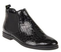 Chelsea Boots, Lack, Krokodilleder-Optik