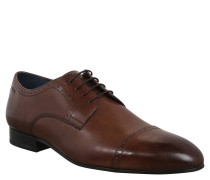Business-Schuhe, Lochmuster, Leder, Braun