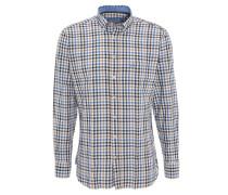 Freizeithemd, Button-Down-Kragen, Karo-Muster, Baumwolle, Mehrfarbig
