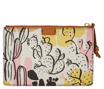 """Geldbörse """"Pouch Small Puched Pink Floral"""", Kaktus-Print, Rosa"""