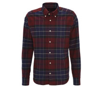 """Hemd """"Forest"""", Baumwoll-Flanell, Tailored Fit, Karos, Rot"""