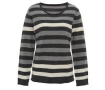 Pullover, Streifen, Rollsaum, Rundhalsausschnitt