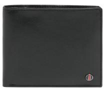 Brieftasche, Leder, Emblem, Innenfutter, Schwarz