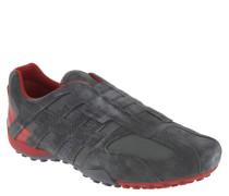 Sneaker, Veloursleder, zweifarbiges Design, Grau