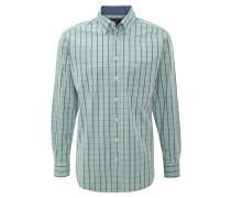 Hemd, kariert, Button-Down-Kragen, Brusttasche, Grün