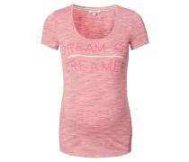 """T-Shirt """"Alana"""", Schriftzug, Melange-Optik, Rosa"""