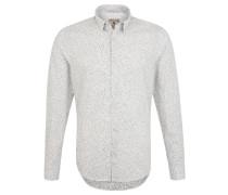 Freizeithemd, Regular Fit, Baumwolle, gemustert, Weiß