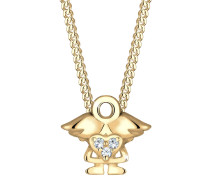 Halskette Kinder Engel Swarovski® Kristalle 925 Silber Rieke