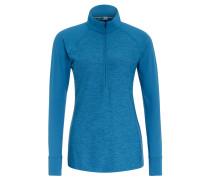 Sweatshirt, schnelltrocknend, Stehkragen, für Damen, Blau