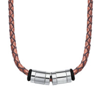 Herren-Lederhalskette  mit Beads