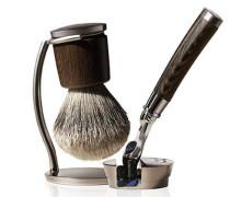 Collezione Barbiere Deluxe Stand - Rasierer & Pinsel mit Ständer (Gillete Fusion Klinge)