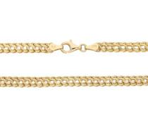 Halskette, Omega-Form, 375er Gold