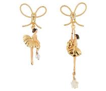 Ohrringe, AEDD108T/2, asymmetrisch, Ballerina, Schleife