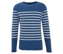 Pullover, Streifen, Baumwolle, Blau