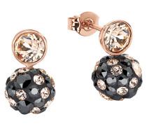 Ohrstecker mit mehrfarbigen Kristallen 2015507 rosevergoldet