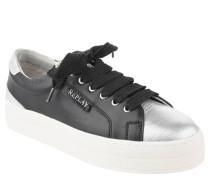 "Sneaker ""Rocket"", Leder, Plateau, Perlen, Strass, breite Schnürsenkel"
