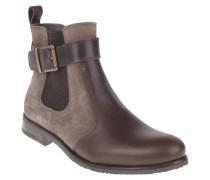 Chelsea Boots, Leder, Schnalle, Braun