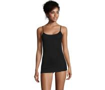 Unterhemd, Woll-Seiden-Gemisch, verstellbare Träger, Schwarz