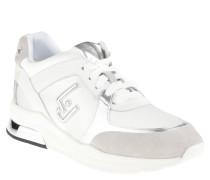 """Wedge Sneaker """"Miranda"""", Strass-Steine, Keilabsatz, Weiß"""