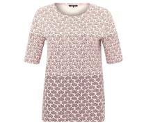 T-Shirt, Print, halblange Ärmel, Rosa