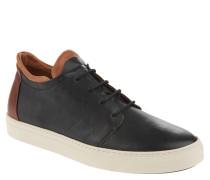 Sneaker, Kalbsleder, Lagen-Look, Schwarz