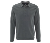 Poloshirt, Baumwolle, Langarm, Struktur