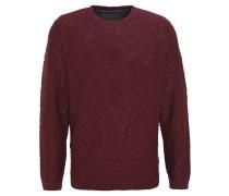 Pullover, Strick, meliert, Rot