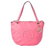 Handtasche, Lederoptik, Label-Emblem, Label-Anhänger, Pink