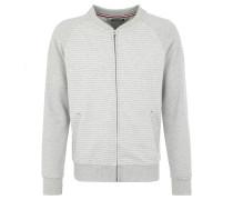 Sweat-Jacke, Streifenoptik, für Herren, Grau