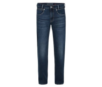 "Jeans ""Freddy"", Straight Fit, helle Waschung, Baumwoll-Stretch, Blau"