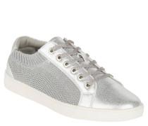 Sneaker, Metallic-Look, elastischer Einstieg, Mesh