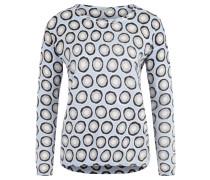 Pullover, Rollsaum, Allover-Print