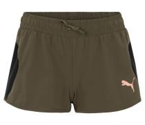 "Shorts ""Transition"", atmungsaktiv, Logo, für Damen, Oliv"