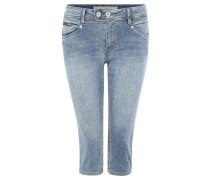 """Jeans """"Catie"""", Slim Fit, 3/4-Länge, Used-Optik, Blau"""