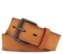 Ledergürtel, Rindsleder, Vintage-Färbung, Dornschließe