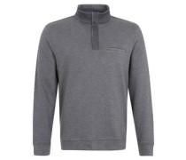 Sweatshirt, Melange, Stehkragen, Zipper