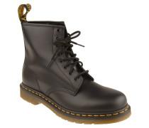 Boots, Leder, Zugschlaufe, Schwarz