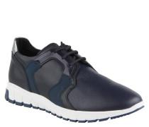 Sneaker, Leder, Gummi-Besatz, Blau
