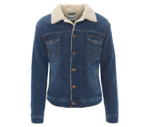 Jeansjacke, Regular Fit, gefüttert, Blau