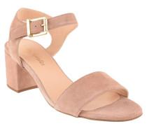 Sandaletten, Rauleder, Knöchelriemchen, Rosa
