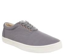 Sneaker, Canvas, strukturierte Blende, Grau