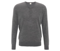Pullover, Feinstrick, uni, Woll-Mischung, Grau