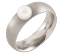 Damenring Reintitan mit Perle 0102-15